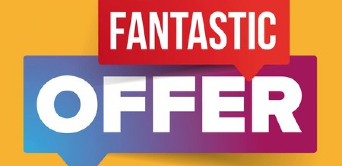 The fantastic offer continues!